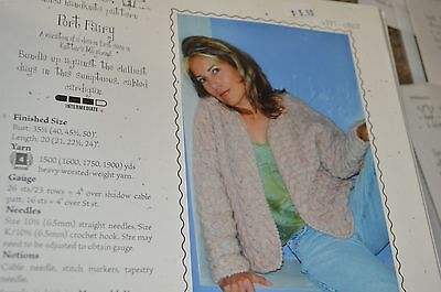 a7cd0be24a8a08 CABIN FEVER KNITTING Pattern 603 Top Down Swing Coat Sweater size 42 ...