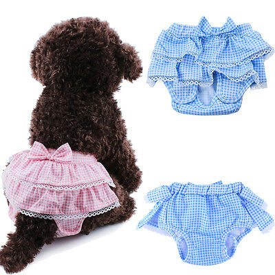 Soft Female Pet Dog Puppy Physiological Short Pants Sanitary Diaper Underwear