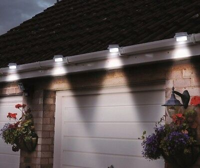 8X-3LED Solar Powered Gutter Fence Lights Outdoor Garden Wall Pathway Lamp AU