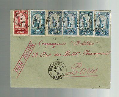 1920 Mazagan Morocco airmail cover to France