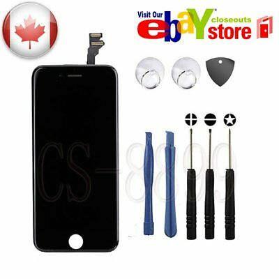 """Replacement Screen Digitizer LCD Touch Display Assembly For iPhone 6G 4.7"""" Black"""