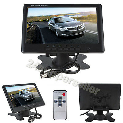 "7"" Car Monitor TFT Color LCD Screen IR for CCTV Reversing Rearview backup Camera"