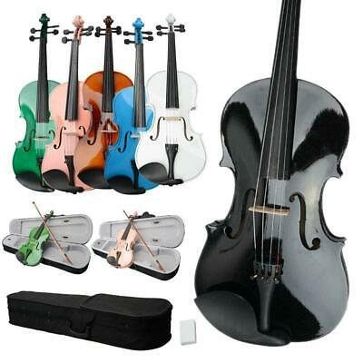 Optional Student 15 16 inch Green Blue Pink Acoustic Viola + Case + Bow + Rosin