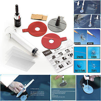 Windshield Repair Kit Crack DIY Auto Glass Wind Screen Chips & Cracks