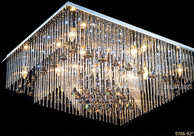 crystal chandelier Ceiling Lamp Fixture Curtain Pendant hang led light hall L8