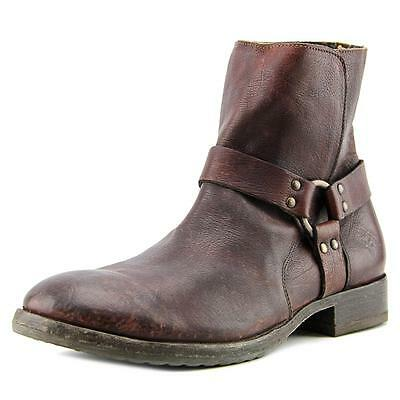 Frye Dean Harness Men  Round Toe Leather Brown Boot