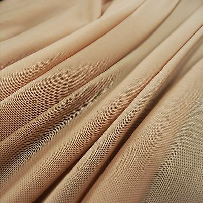 Lingerie Mesh Flesh Skin Nude Colour Fabric 4 way stretch - illusion panel