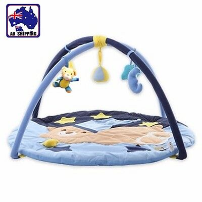 Baby Play Mat Baby Playmat Gym Activity Blue Bear Musical Toy 85cm BCUSH6915