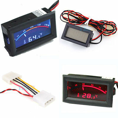 LCD Screen Digital Thermometer Electronic Temperature Meter Gauge C/F 0°C - 90°C