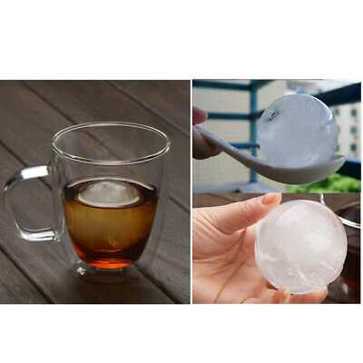 4pc Whiskey Plastic Ice Cube Ball Maker Mold Sphere Mould Round Brick Party Bar