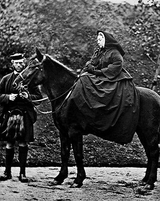 New 8x10 Photo: Queen Victoria with her Servant John Brown at Balmoral, 1863