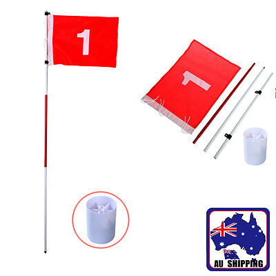 Golf Flag Pole & Cup Stick Putting Set Backyard Training Aid Outdoor OBGO21001
