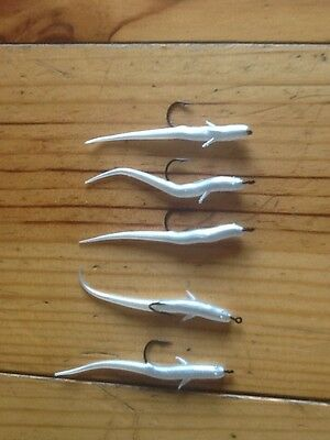 Sea Fishing Lures Bass Cod Pollock Great All Rounder 70 Elver 1/0 Aberdeen Hooks
