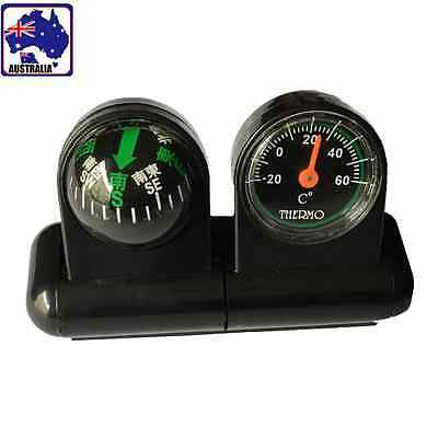 2pcs Car Compass Ball Thermometer Vehicle Adhesive Hygrometer Boat VCOMP 5135x2