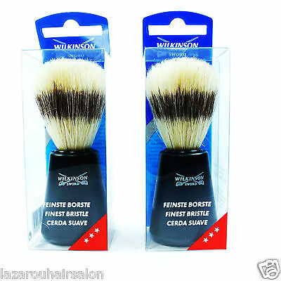 Wilkinson Sword Pure Bristle Shaving Brush.... Qty 2  With Fast & Free Postage