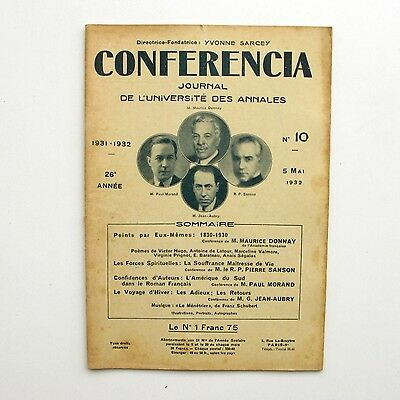Conferencia n°10 - 1932 - Maurice Donnay - Pierre Sanson - Paul Morand