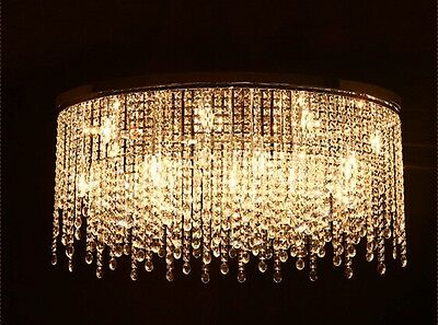 crystal chandelier Ceiling Lamp Fixture Curtain Pendant hang led light hall W50