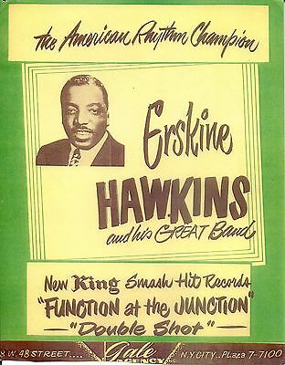 Erskine Hawkins Gale Agency Flyer King Records Poster