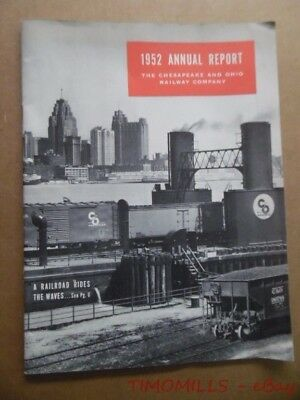 1952 Cheaspeake and Ohio Railway Company Annual Report CO Vintage Original