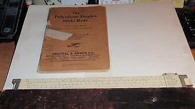 Vintage Keuffel & Esser Co. N.y. Slide Rule No. 4088-3 In Case & 1924 Book