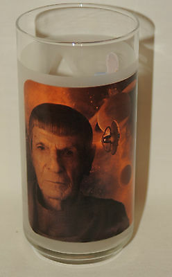 "Leonard Nimoy Star Trek Mr. Spock  6"" 16 ounce Frosted Soda Glass Tumbler"