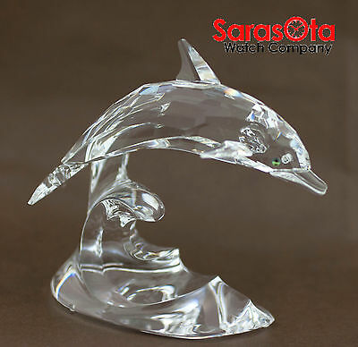 db36bbd50 SWAROVSKI DOLPHIN RIDING Wave Crystal Figurine - $103.50 | PicClick