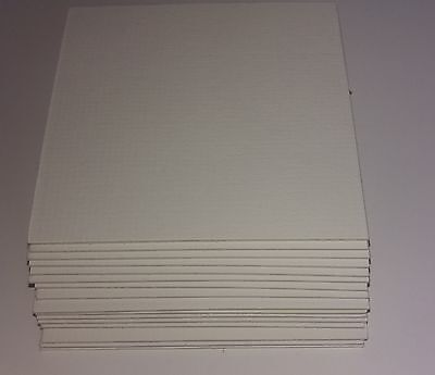 10 Pack Picture photo frame mount textured backing card white cream all sizes A4