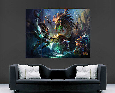 League Of Legends Poster Wall Art Lol Game Image Giant Print Picture