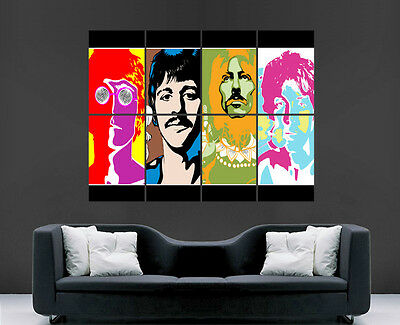 The Beatles Poster Rock Legend Band Trippy Abstract Psychedelic Giant Print