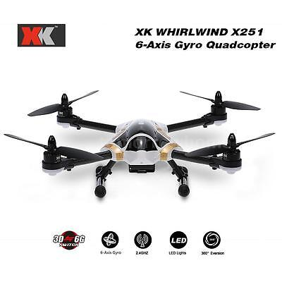 Xk X251A Rc Quadcopter Brushless Motor 3D 6G Rtf Drone W/ X7 Transmitter E4S5
