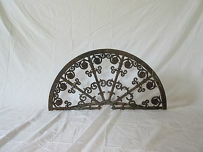 19th Century Wrought Iron Fireplace Screen, Reclaimed Wrought Iron