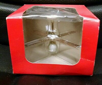 Vintage Doll House Miniature Exquisite Ceiling Fan Light, MINT in BOX!