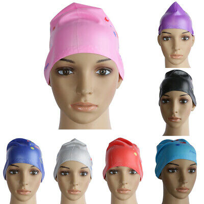 Waterproof Silicone Large Swim Cap for Long Thick Curly Hair Adult Bathing Cap