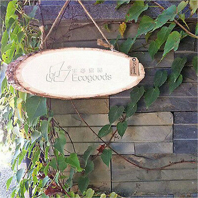 Wood Blank DIY Home Garden Plaque Wooden Tag Timber Pile Carved Hanging Sign New