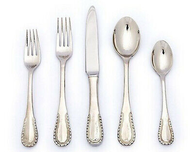 Merletto by Ricci Stainless Flatware Tableware Set Service 12 New 65 Pcs Beaded