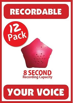 12 Recordable Sound Chips by Stufflers – Will fit in a Build-a-bear