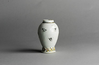 RARITY! 18th C Chinese Porcelain Tea Caddy Encre de Chine FLowers China Qing