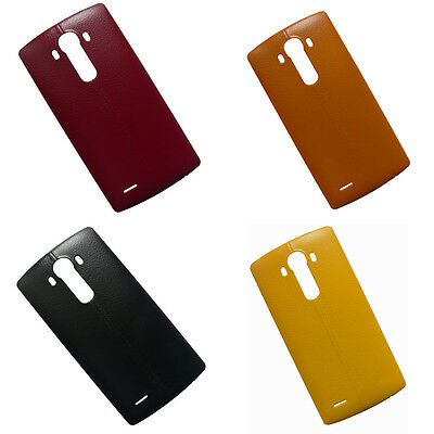Plastic Leather Battery Back Housing Cover W/NFC For LG G4 H810 H811 H815 LS991