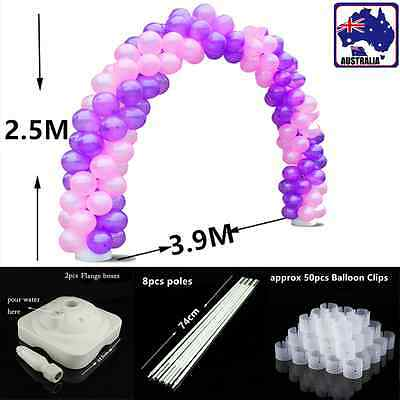 Balloon Arch Stand Pole Kit Clips Connector Adjustable Wedding Party GBALD 4038