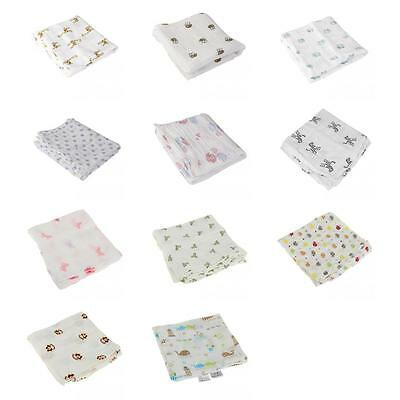 Newborn Baby Infant Muslin Blanket 100% Cotton Swaddle Baby Wrap Towel Nursery