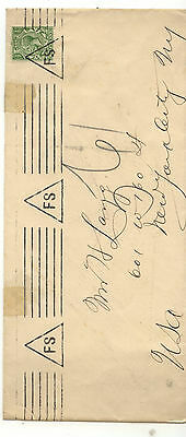 Great  Britain   cover to US   triangle cancel          KL0104