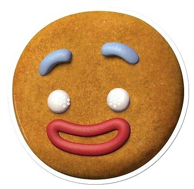 Gingy The Gingerbread Man from Shrek Single 2D Card Face Mask - Party Dress Up