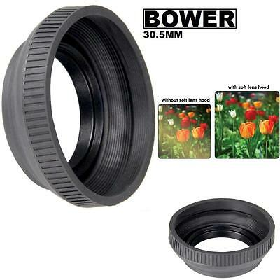 Bower 30.5mm Collapsible Rubber Lens Hood (Black) For  Photo & Video Camera