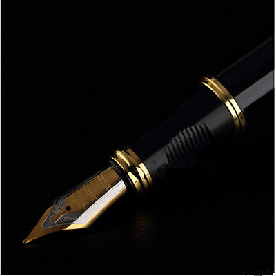 Gold Black Gift Fountain Pen Nib X450 JinHao Business Medium