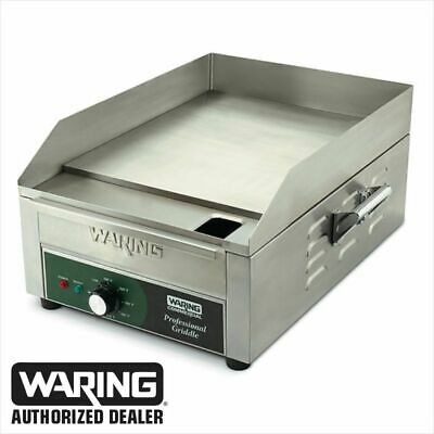 "Waring WGR140 Commercial Electric Countertop Griddle 14"" X 16"" 120V Genuine 1800"