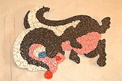 Melted Plastic Popcorn Vintage Art Flower the Skunk from Bambie