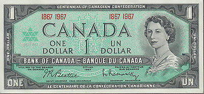 1867 1967 $1 Dollar Beattie Rasminsky - UNC - Bank of Canada