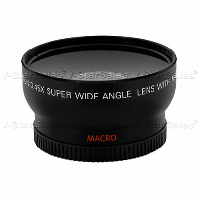 58mm 0.45x HD Wide Angle Lens For Sony Fuji Canon