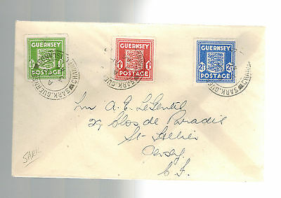 1946 Sark Guernsey Channel Islands Post Occupation Stamps Cover to England