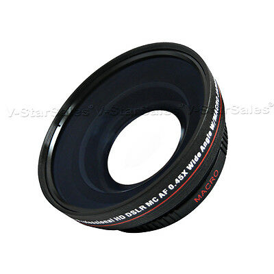 72mm Wide Angle  0.45X For Canon XL1 XL2 XL1S